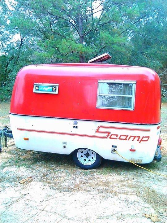 Tiny Red Caravan before photos.