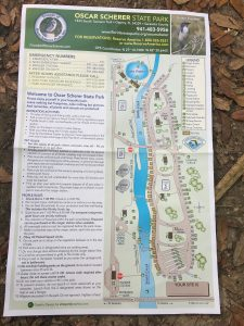 st. park, florida, campground map, map