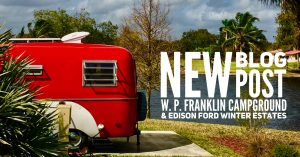 Tiny Red Caravan at W.P. Franklin Campground