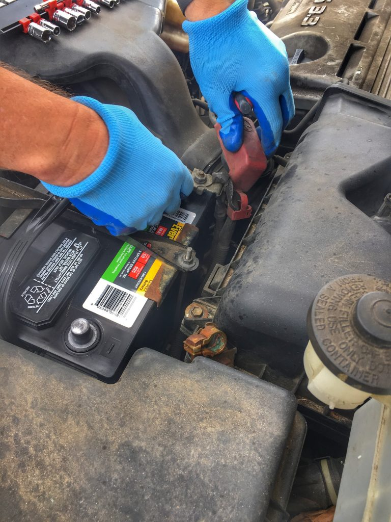 Changing battery