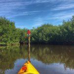 Kayak on water.