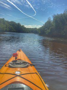 Kayak on the river.