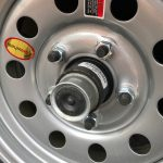 Scamp wheel rim and new axle